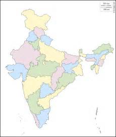 India Outline Map Coloured by India Free Map Free Blank Map Free Outline Map Free Base Map Outline States Color White