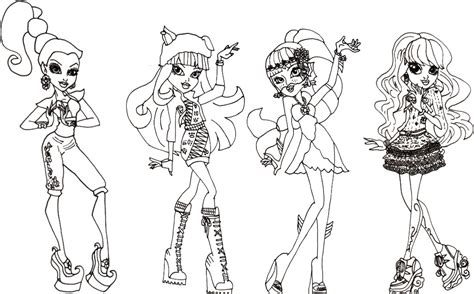 coloring pages of monster high characters free coloring pages of monster high 46 coloring sheets