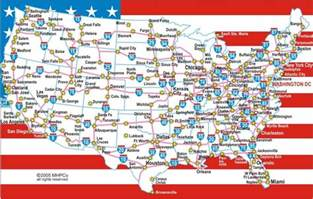 us interstate map printable stages aux usa stages en entreprises au pair