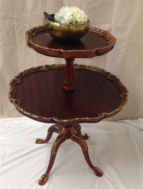 three tier table antique butler tea table antique side table pie crust table