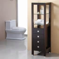 virtu usa espresso bathroom side cabinet