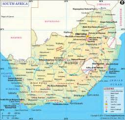 Map South Africa by Southafrica Map Showing Province Capital City Road