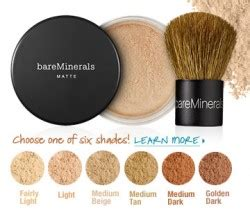 bare minerals matte foundation shades free 10 day supply of bareminerals foundation