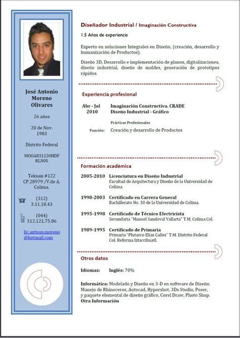Plantilla De Curriculum Descargar Word Descargar Plantilla Curriculum Vitae
