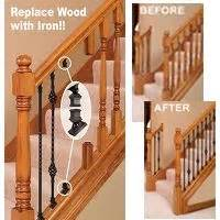 Replace Banister And Spindles by 1000 Images About Wrought Iron Stairs Makeover On