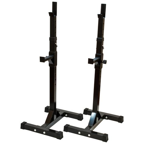bench press safety stands black exercise weight lift adjustable barbell squat