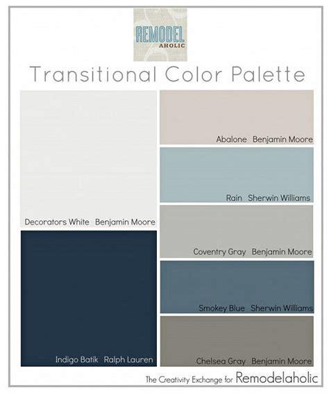 Home Interior Color Palettes Interior Paint Palettes 4 Transitional Paint Colors Smalltowndjs