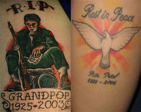 rip grandma tattoo designs r i p rip rest in peace tattoos ideas touching exles