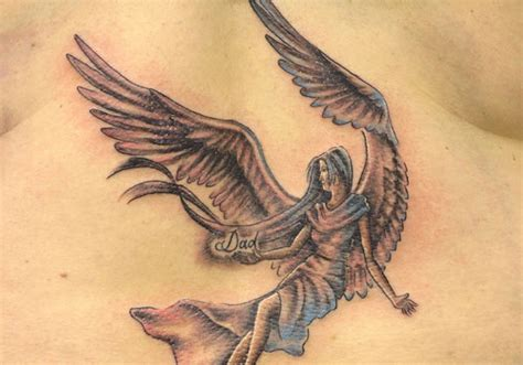 dad angel tattoo designs memorial