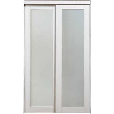 Closet Door Prices Nuporte 1 Lite Bi Pass Closet Doors 2010 6080 White Home Depot Canada Ottawa