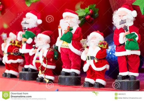 musical band of santa claus stock photo image 48324672