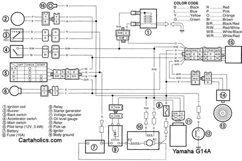 yamaha golf cart wiring diagram g14a gas