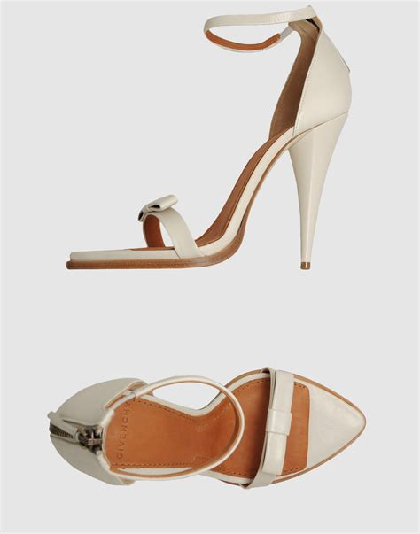New Givenchy High Heel 3 In 1 1698 3 givenchy high heeled sandals in white lyst