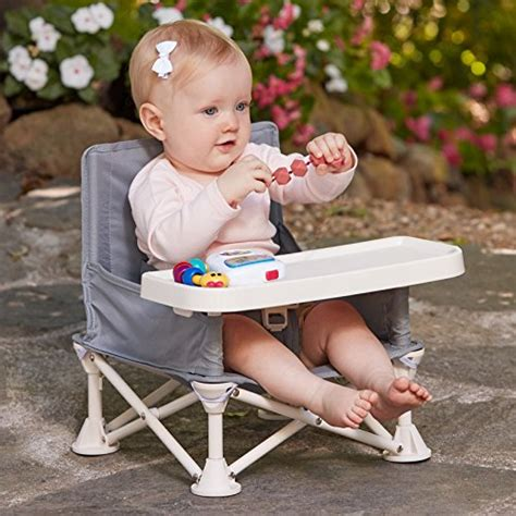 travel high chair with tray hiccapop omniboost travel booster seat with tray for baby