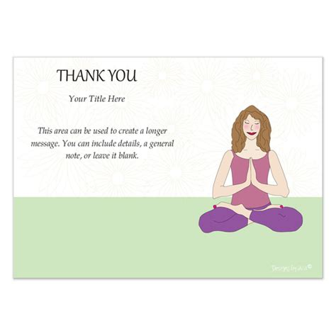 yoga thank you card invitations amp cards on pingg com