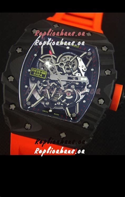 Richard Mille Rm035 Rafael Nadal Canvas Swiss Clone 11 richard mille rm035 2 rafael nadal forged carbon with rubber
