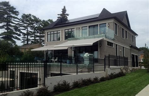 cassette awnings semi cassette awnings rolltec 174 retractable awnings toronto ontario canada