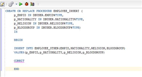 Sql Insert Into Table by Stored Procedures Insert Into Sp In Oracle Sql Developer Stack Overflow