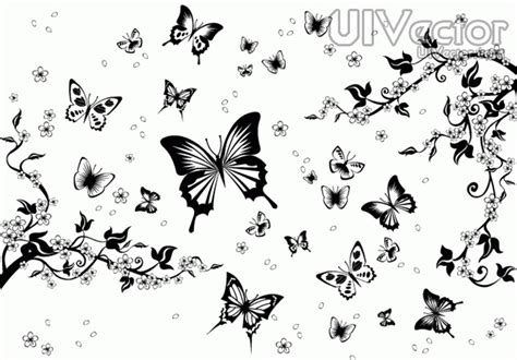 black and white butterfly pattern 15 butterfly vectors black and white images black and
