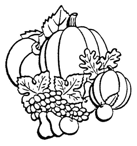 autumn vegetables coloring pages coloring pages of autumn fruits coloring