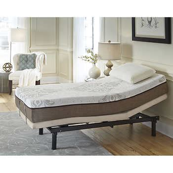 costco adjustable bed sleep science marina 10 quot twin xl memory foam mattress with