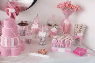 Modern girls wedding candy buffet pink inspiration