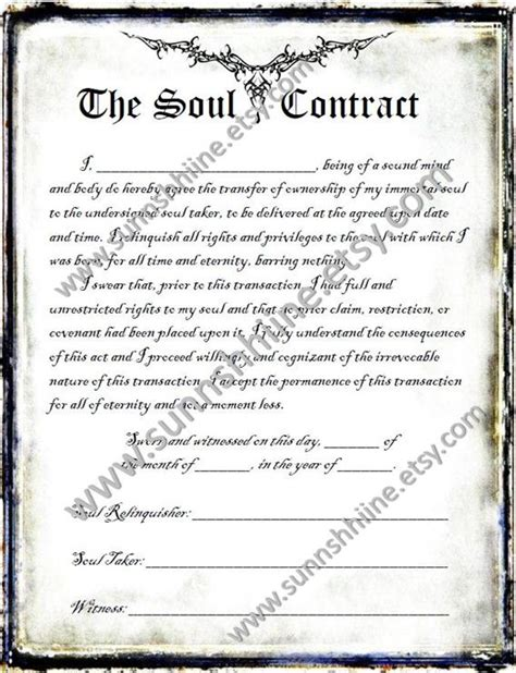 The Soul Contract Halloween Party Printable Gag by sunnshhiine