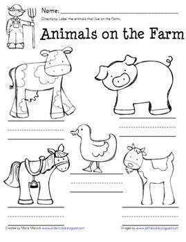 printable animal farm quiz free farm worksheets for kindergarten google search