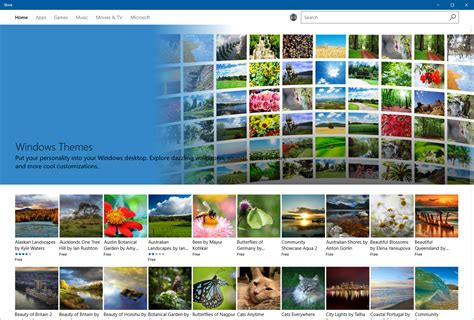 themes microsoft store announcing windows 10 insider preview build 15007 for pc