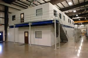 two story modular offices mezzanines platform modular