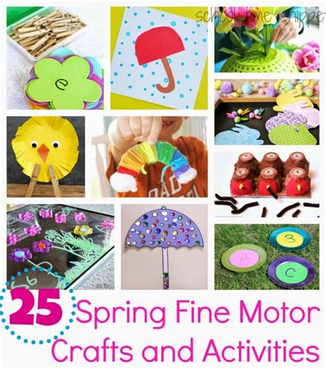 Spring Themed Work Events | 25 spring themed fine motor crafts activities school