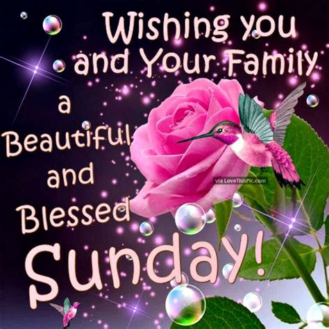 wishing you and your family a beautiful sunday pictures