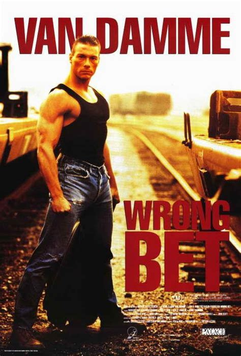 film perang van damme wrong bet movie poster 11 x 17 jean claude van damme