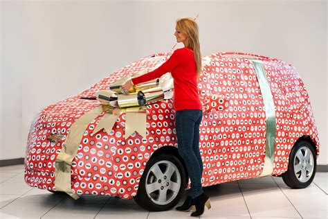 car gift wrap chevrolet uk gets into the spirit offers free