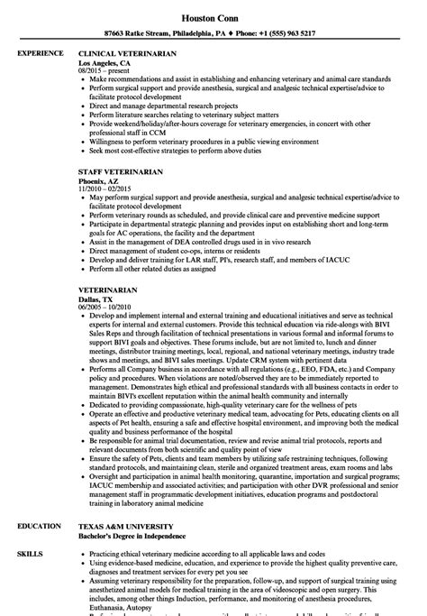 veterinarian resume template resume objective for veterinarian ideas resume