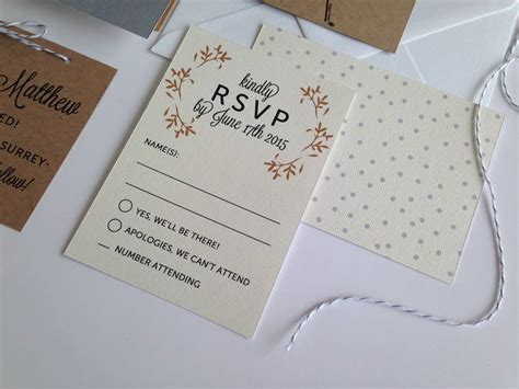 Wedding Invitation Rsvp by Day Wedding Invitation By Pear Paper Co