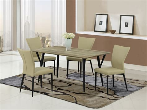 Dining Table Black Legs Dining Table D794dt Black Legs Khaki Top By Global Furniture