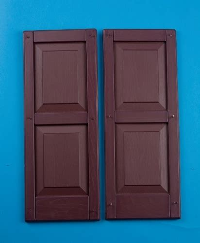 Shed Doors N More by 12 Quot X31 Quot Burgandy Colonial Vinyl Shutters