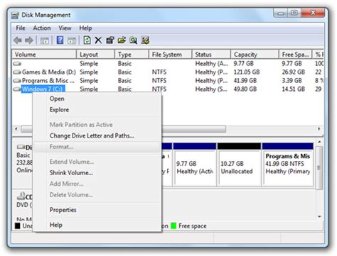 format cd in win7 best free partition manager for windows 7 redmond pie