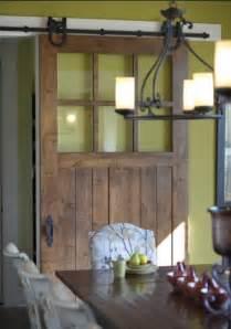 Sliding barn door with glass as pantry door jpg