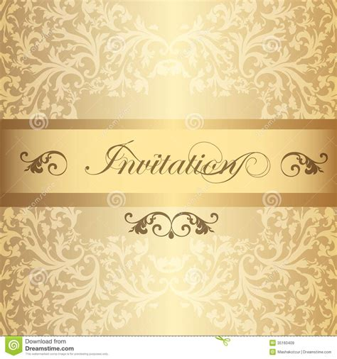 vintage style wedding cards wedding invitation card in luxury vintage style royalty free stock images image 35160409