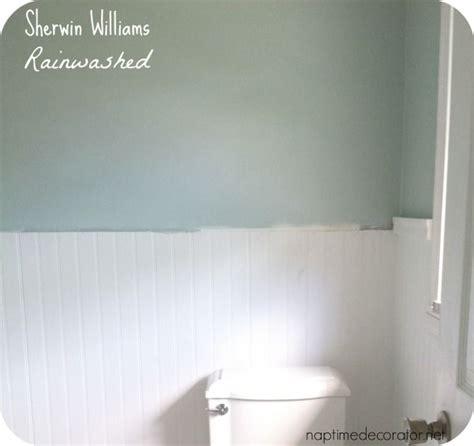 rainwashed paint color sherwinwilliams rainwashed bathroom reno in 2019
