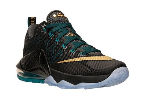 Sepatu Basket Nike Lebron12 Low Black Green Lebronjames Sneakers nike goes back to akron with the lebron 12 low quot svsm quot sneakernews