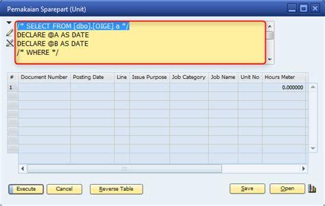 cara membuat query gabungan sap business one cara membuat query di sap business one