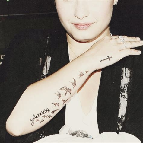 demi lovato tattoo love it