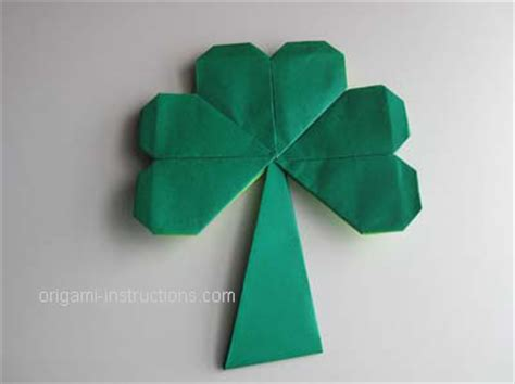 Origami St - 3 leaf origami clover folding how to make a