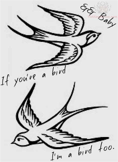 small swallow tattoo designs flying birds design
