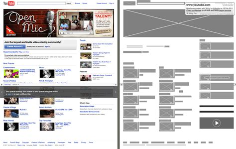 web design html youtube wirify the web as wireframes