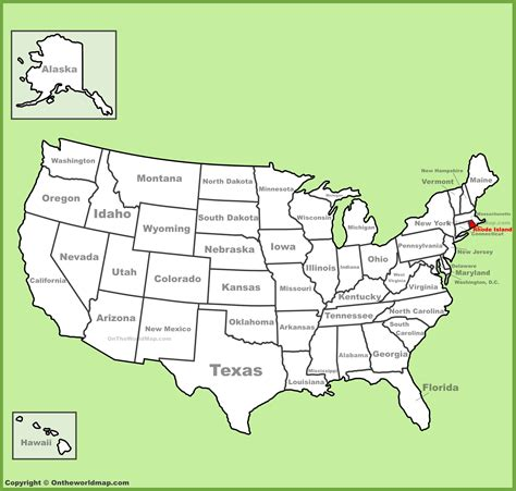 road island usa map rhode island location on the u s map