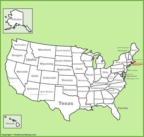 usa map island rhode island location on the u s map